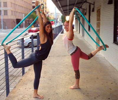 Hoop Yoga with Malia and Ashley